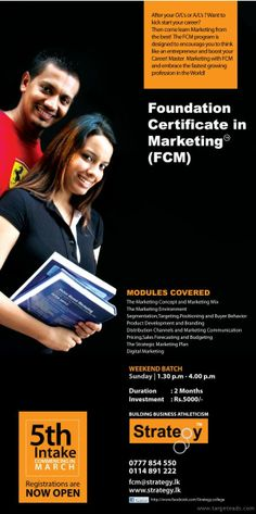Marketing & Business – A Compulsory Foundation After A/Ls…!