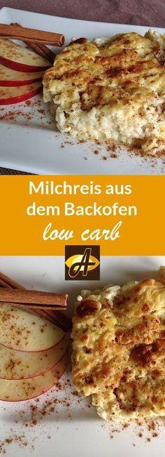 Rezept low carb Milchreis aus dem Backofen glutenfrei Ein geniales Dessert oder süße Hauptspeise für Milchreisfans - nicht keto, aber für moderates lowcarb eine süße Köstlichkeit!