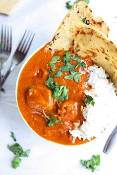 This easy Indian butter chicken recipe makes Indian food a synch! This creamy tomato sauce is similar to chicken tikka masala, but maybe even better!