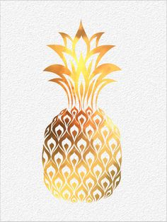 PINEAPPLE  Watercolor Painting Art Print  5 x von ImageDeSignStudio, $15.00