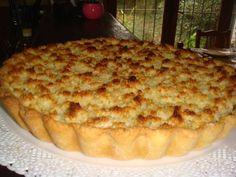 Tarta de dulce de leche y coco Veggie Recipes, Snack Recipes, Dessert Recipes, Cooking Recipes, Snacks, Desserts, Veggie Food, Delicious Deserts, International Recipes