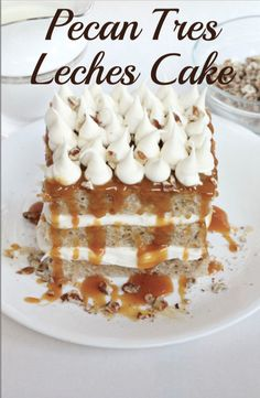 Pecan Tres Leches Cake: Going to a dinner party this season? Love to bring the most beautiful dessert? Make a cake that will impress your guests with this Pecan Tres Leches Cake recipe made with DairyPure milk. Find the full recipe at myrecipes.com for this delicious cake and much more!