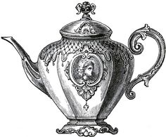 Free Public Domain Tea Set Images - The Graphics Fairy