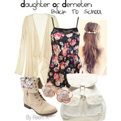 Daughter Of Demeter Back To School Outfit, Cabin 4, Percy Jackson Inspired Outfit