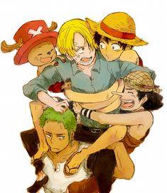 One Piece: Luffy, Sanji, Zoro, Usopp, and Chopper