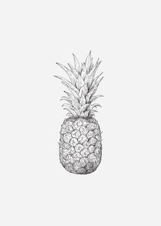 Hand-drawn illustration of a pineapple by inkylines. Nice for in the summer as a poster on the wall. The pineapple stands for enjoyment! Pre-order now with 15% discount! Use the code: 'summer18'. The print will be sent in the week of 2 July.
