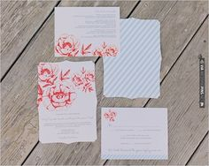 blue and red wedding invites | VIA #WEDDINGPINS.NET