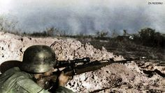 German sniper in Stalingrad 1942 | Recolored using Photoshop… | Flickr