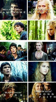 The 100 - Bellamy and Clarke #Bellarke HOLY I LOOKED IT UP AND ITS TRUE!!! I ALWAYS WONDERED WHY THEY NAMED HIM SOMETHING SO GIRLY!! THIS FULFILLS EVERYTHING!!!!!