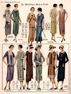1925 Fall Day and Afternoon Dresses