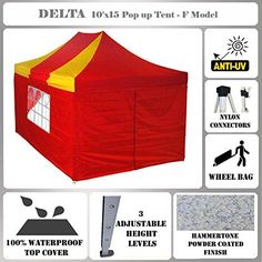 Best Camping Tents  | 10x15 Pop up Canopy Wedding Party Tent Gazebo EZ RedYellow  F Model Commercial Frame By DELTA Canopies10x15 Pop up Canopy Wedding Party Tent Gazebo EZ RedYellow  F Model Commercial Frame By DELTA Canopies >>> Click image for more details. Note:It is Affiliate Link to Amazon.