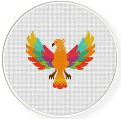 FREE for Nov 19th 2014 Only - Colorful Phoenix Cross Stitch Pattern get it at DailyCrossStitch.com