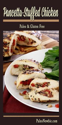 Simple and savory stuffed chicken breast filled with Italian bacon, artichokes and roasted peppers. Fast prep, then just grill or bake!