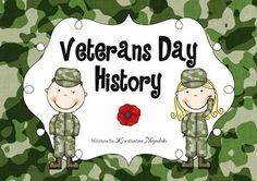Veterans Day Social Studies - History Pre-K and Kindergarten from TheConstantKindergartener on TeachersNotebook.com -  (60 pages)  - Veterans Day history for children in Pre-K and Kindergarten.