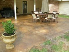 Staining Concrete Patios 164   Pictures, Photos, Images