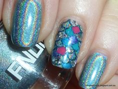 Rainbow Fish Scale Nails - FNUG