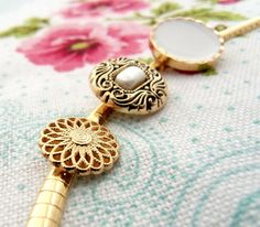 Golden Choker with Vintage Style Buttons by veroque on Etsy, $46.00