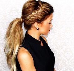 cool Love this fishtail braid updo!... by http://www.dezdemon-exoticfish.space/fishtail-braids/love-this-fishtail-braid-updo/