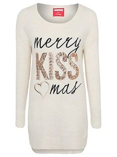 Christmas Sequinned Slogan Jumper, read reviews and buy online at George at ASDA. Shop from our latest range in Women. Who needs mistletoe when you've got a ...