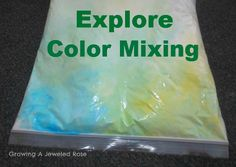 Sensory Play for Babies ~ Growing A Jeweled Rose