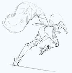 ringtail Gurl by Khoa Việt on ArtStation. Figure Drawing Reference, Drawing Reference Poses, Drawing Skills, Drawing Sketches, Art Drawings, Anatomy Reference, Drawing Tips, Drawing Ideas, Drawing Expressions