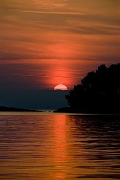 Sunset, Island of Mljet, Croatia