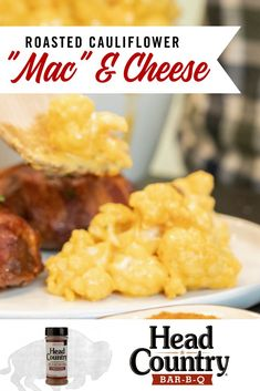 """Try this Roasted Cauliflower """"Mac"""" & Cheese. With this macaroni and cheese recipe being keto and low carb it's a good option for many. Go grab the recipe now! Cheese Sauce For Cauliflower, Baked Cauliflower, Macaroni N Cheese Recipe, Mac Cheese, Healthy Snacks To Make, Veggie Side Dishes, Recipe For Mom, South Beach, Comfort Foods"""
