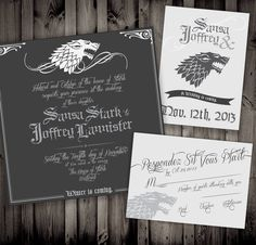 game of thrones save the date winter wedding tips  http     Pinterest