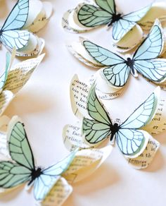 Add a touch of poetry to your home with these delicate paper butterflies hand made in France, made from vintage paper such as old music sheets and books. With double-sided adhesive on the back to adhere to walls and mirrors.Also ideal for table decoration placed randomly across the table, ideal for weddings and birthday celebrations and as keepsakes to take home after your event