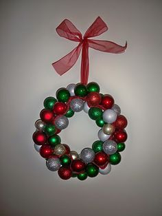 ornament wreath- tutorial