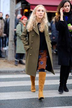 Franca looking fab from head to toe. Paris. #FrancaSozzani