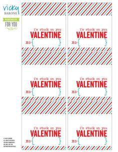 I'm stuck on you, Valentine - free printable