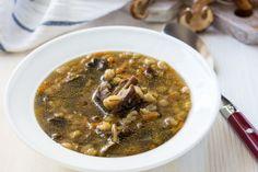 Krúpová polievka s hubami