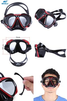 [Visit to Buy] WHALE Diving Mask With Myopia Lens Professional Scuba Glasses Goggles For Underwater Snorkel Swimming Set Accessories Equipment #Advertisement