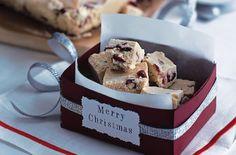 White chocolate and cranberry fudge recipe