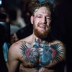 Conor McGregor backstage minutes after UFC 189 by John Barry