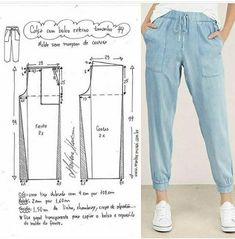1 – – Sport – Home crafts Sewing Pants, Sewing Clothes, Doll Clothes, Dress Sewing Patterns, Clothing Patterns, Beginner Sewing Patterns, Shirt Patterns, Fashion Sewing, Diy Fashion