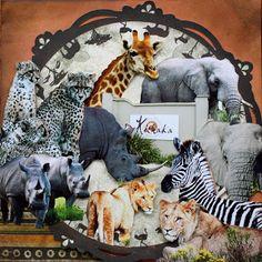 Zoology @Melissa Kennedy #bobunny #scrapbooking