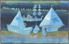 Paul Klee, Little Regatta, 1922 Watercolor on paper on ArtStack #paul-klee #art