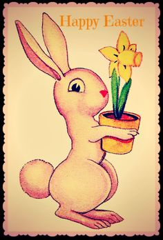 Easter Photograph Greeting Card Bunny Rabbit by MYSAVIOR on Etsy, $3.00