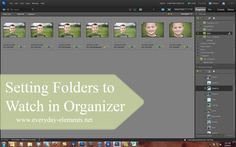 How to set certain folders to be watched by PSE Organizer so images don't get missed being added to Catalog via @amandapadgett