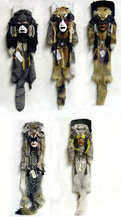 Spirit Masks : Blackfeet Warrior, Cheyenne Dog Soldier, Comanche Warrior, Sioux Red Fox Dreamer, Warm Spring Apache.