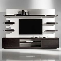 Modern tv wall unit flat screen mount living room projects to try wall decor wall design .
