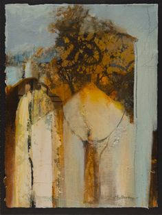"Joan Fullerton Paintings: Abstract Mixed Media,Collage Art Painting, ""Trust"" by Intuitive Artist Joan Fullerton"