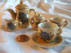 Doll House Miniature Tea Set Made in Occupied Japan by RockingRags, $19.00