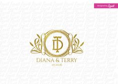 luxury wedding monogram wedding logo-wedding crest-custom