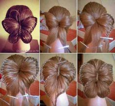 Butterfly hair up*.*