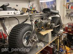 Custom Mini Bike, Go Kart Plans, Torque Converter, Brake Calipers, Metal Working, Monster Trucks, Fat, Homemade, Biking