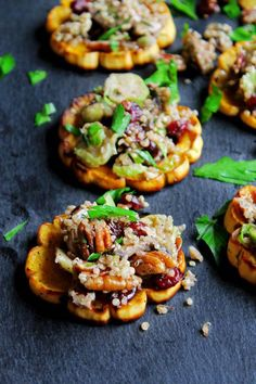 Quinoa-Stuffed Delicata Squash Rings with Mushrooms, Cranberries, and Pecans | Paleo Recipes to Make This Thanksgiving