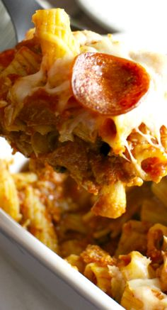 Meat Lovers Pizza Casserole.~ A delicious family friendly meal that's ready in 30 minutes